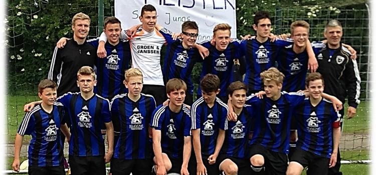 Die SG Jheringsfehn/ Stikelkamp/ Veenhusen U15 wird Meister der Bezirksliga 1 im Weser-Ems