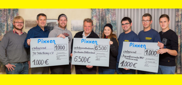 Spende des Pixxen-Teams an den Verein